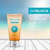 protezione della protezione solare 3d Immagine Stock Libera da Diritti