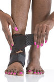 Protezione di borsite dell'alluce del piede della donna Fotografie Stock Libere da Diritti