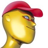 Protezione di colore rosso del robot Immagini Stock Libere da Diritti