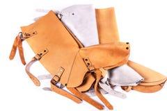 Protezione di cuoio per la gamba più bassa Immagini Stock