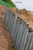 Protezione di erosione delle colonne concrete Immagine Stock