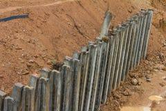 Protezione di erosione delle colonne concrete Fotografie Stock Libere da Diritti