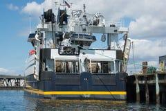 Protezione di F/V all'attracco sul ` s Elliott Bay di Seattle Fotografia Stock Libera da Diritti