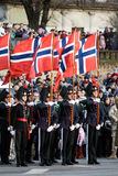 Protezione di Honour norvegese alla parata militare Fotografia Stock Libera da Diritti