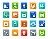Icone colorate piano 3 di sicurezza illustrazione di stock for Assicurazione domestica