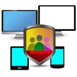 Protezione di Internet Immagine Stock
