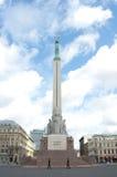 Protezione di onore al monumento di libertà, Riga, Latvia Immagini Stock