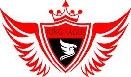 Protezione di riserva dell'aquila di re di logo Fotografia Stock Libera da Diritti