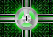 Protezione di sicurezza astratta di Digital del fondo; Concetto cyber di sicurezza Fotografia Stock Libera da Diritti