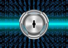 Protezione di sicurezza di Digital del fondo e dati astratti di crittografia Fotografia Stock Libera da Diritti