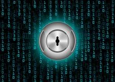 Protezione di sicurezza di Digital del fondo e dati astratti di crittografia Immagini Stock Libere da Diritti