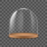 Protezione di vetro dettagliata realistica del contenitore della cupola 3d per alimento Vettore royalty illustrazione gratis