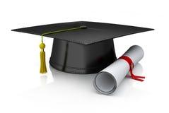 Protezione e diploma di graduazione Fotografie Stock Libere da Diritti