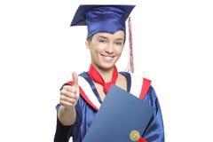 Protezione ed abito da portare sicuri dell'allievo di laurea Immagine Stock Libera da Diritti