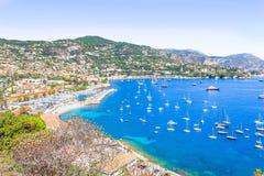 Protezione Ferrat, Riviera francese Fotografie Stock Libere da Diritti