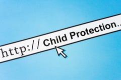 Protezione in linea del bambino Fotografia Stock