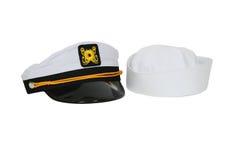 Protezione nautica di marinaio e del cappello Fotografia Stock Libera da Diritti