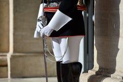 Protezione nazionale di onore durante la cerimonia benvenuta al palazzo di Quirinale fotografia stock libera da diritti