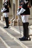 Protezione nazionale di onore durante la cerimonia benvenuta al palazzo di Quirinale immagini stock libere da diritti