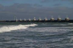 Protezione olandese del litorale Fotografia Stock Libera da Diritti