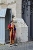 Protezione Pontifical dello svizzero Fotografia Stock Libera da Diritti