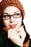 Protezione, sciarpa e vetri. Fotografia Stock Libera da Diritti