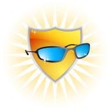 Protezione UV del raggio di estate illustrazione vettoriale