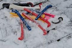 Protezioni del pattino da ghiaccio Immagine Stock