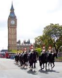 Protezioni di cavallo al Parlamento Immagini Stock Libere da Diritti