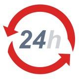 24 protezioni di ora - simbolo di sicurezza - tecnologia Fotografie Stock