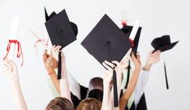Protezioni e certificati di graduazione Fotografia Stock Libera da Diritti