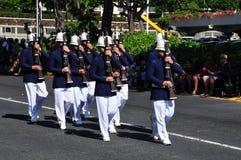 Protezioni hawaiane dell'esercito, aloha festival 2010 Fotografia Stock