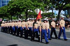 Protezioni hawaiane dell'esercito, aloha festival 2010 Immagini Stock Libere da Diritti