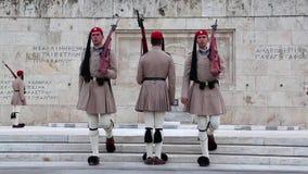 Protezioni nazionali greche stock footage
