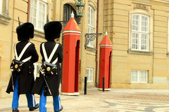 Protezioni reali danesi Immagini Stock Libere da Diritti