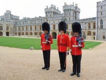 Protezioni reali nel castello di Windsor Fotografie Stock Libere da Diritti