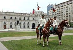 Protezioni sui cavalli al palazzo Fotografie Stock Libere da Diritti