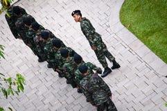 Protezioni tailandesi dell'esercito Fotografia Stock