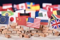 Protezionismo di U.S.A. immagine stock