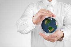Protégez la terre de planète Photos stock