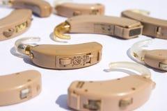 Prothèses auditives utilisées photographie stock