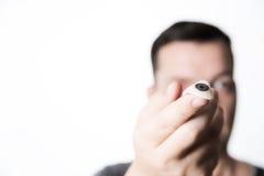 Prothetische augenfällige Prothese des Glasauges Stockbilder