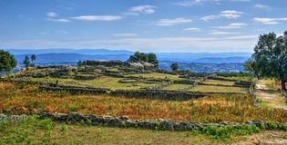 Proto-historic settlement in Sanfins de Ferreira. Pacos de Ferreira, north of Portugal royalty free stock images