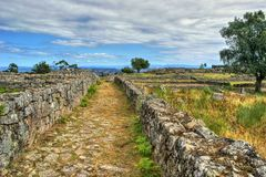 Proto-historic settlement in Sanfins de Ferreira royalty free stock photo
