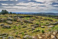 Proto-historic settlement in Sanfins de Ferreira. Pacos de Ferreira, north of Portugal royalty free stock photos