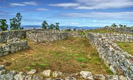 Proto-historic settlement in Sanfins de Ferreira. Pacos de Ferreira, north of Portugal stock image