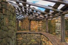 Proto-historische Regelung in Sanfins De Ferreira Stockfotos