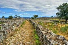Proto-historisk bosättning i Sanfins de Ferreira Royaltyfri Foto
