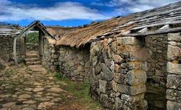 Proto-historisk bosättning i Sanfins de Ferreira Arkivbild