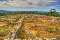 Proto-historisk bosättning i Sanfins de Ferreira Royaltyfria Foton